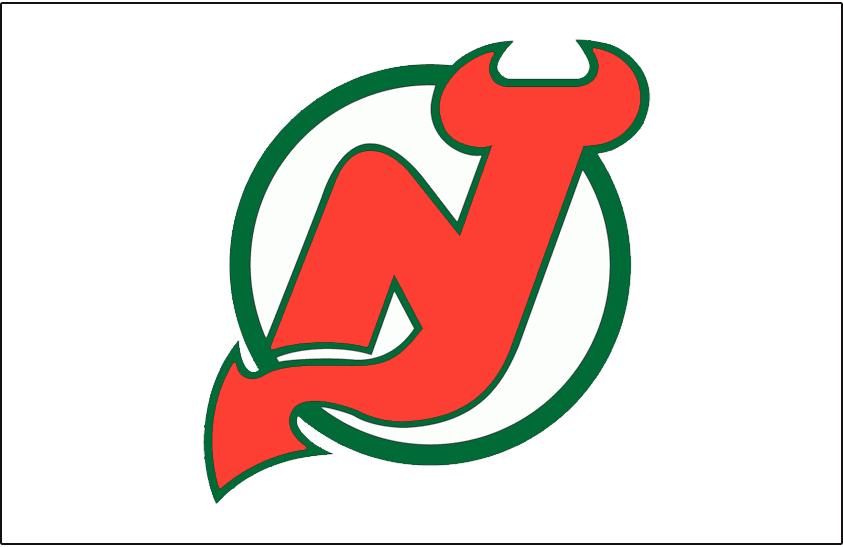 New Jersey Devils Logo Jersey Logo (1982/83-1985/86) - Worn on New Jersey Devils home white jersey from 1982-83 until 1985-86 SportsLogos.Net