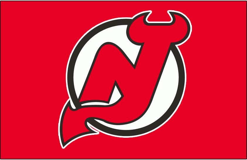 New Jersey Devils Logo Jersey Logo (1992/93-1998/99) - Worn on New Jersey Devils road red jersey from 1992-93 until 1998-99 SportsLogos.Net