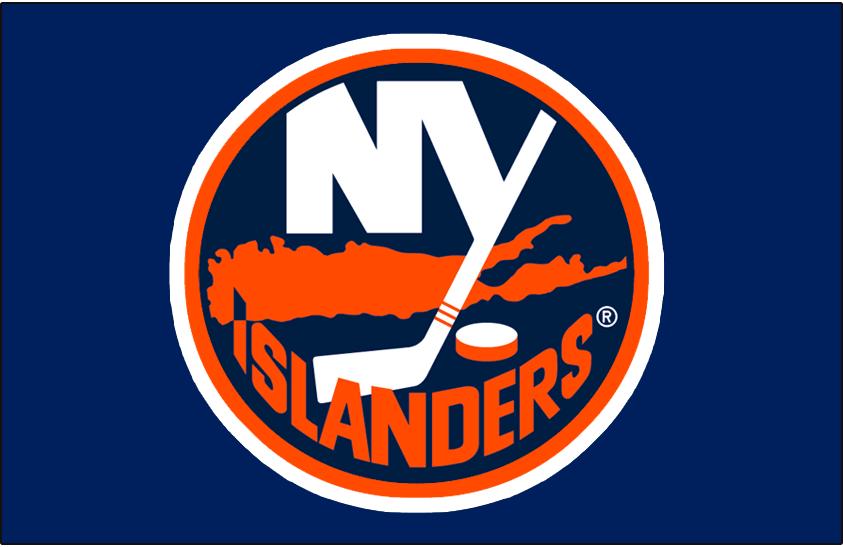 New York Islanders Logo Jersey Logo (1996/97-1997/98) - Worn on New York Islanders blue alternate jersey in 1996-97 and their road blue jersey in 1997-98. Shade of blue of the jersey darkened for 1998-99 season SportsLogos.Net