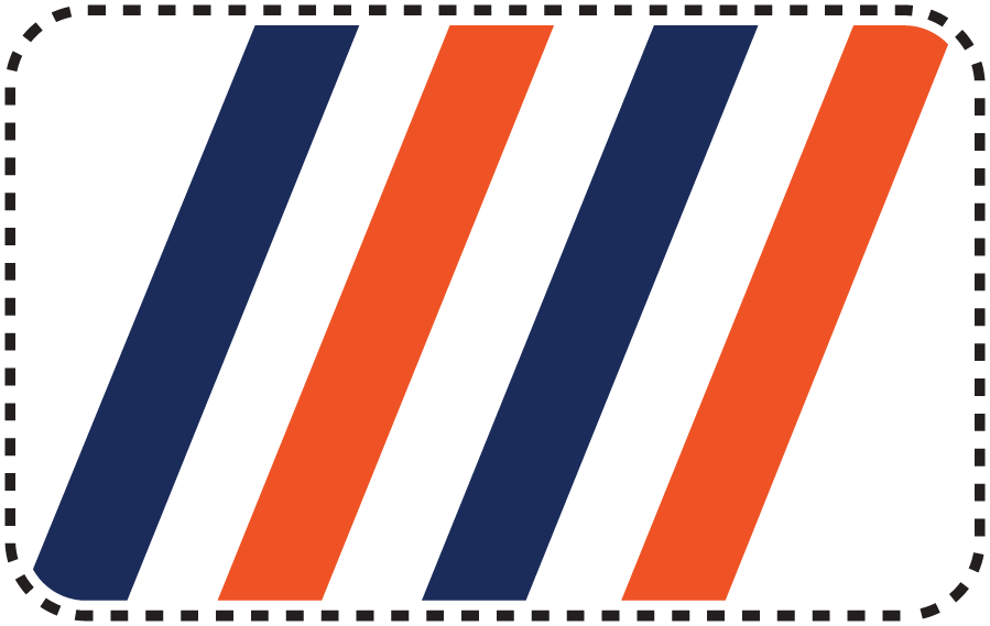 New York Islanders Logo Misc Logo (1998/99-2009/10) - Four Blue and Orange alternating stripes representing Cup wins. This was worn as a shoulder patch on the team's white jersey. SportsLogos.Net