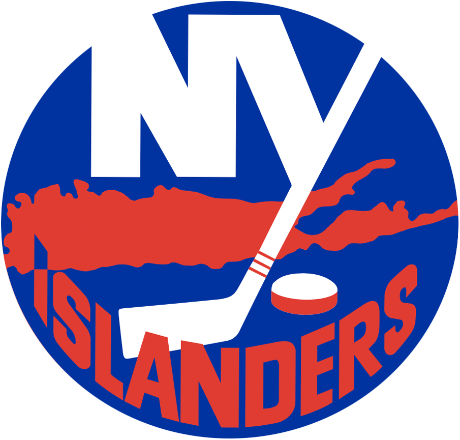 New York Islanders Logo Primary Logo (1972/73-1994/95) - Blue circle with an NY in white with Long Island in orange SportsLogos.Net