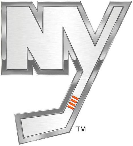 New York Islanders Logo Special Event Logo (2013/14) - NY Islanders Stadium Series chrome treated logo SportsLogos.Net