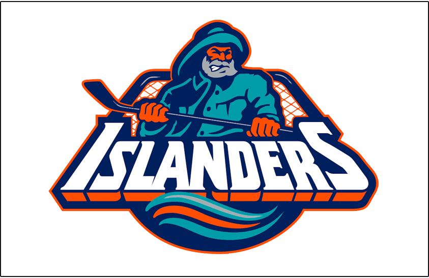 New York Islanders Logo Jersey Logo (1995/96-1996/97) - Worn on New York Islanders home white jersey from 1995-96 until 1996-97 SportsLogos.Net