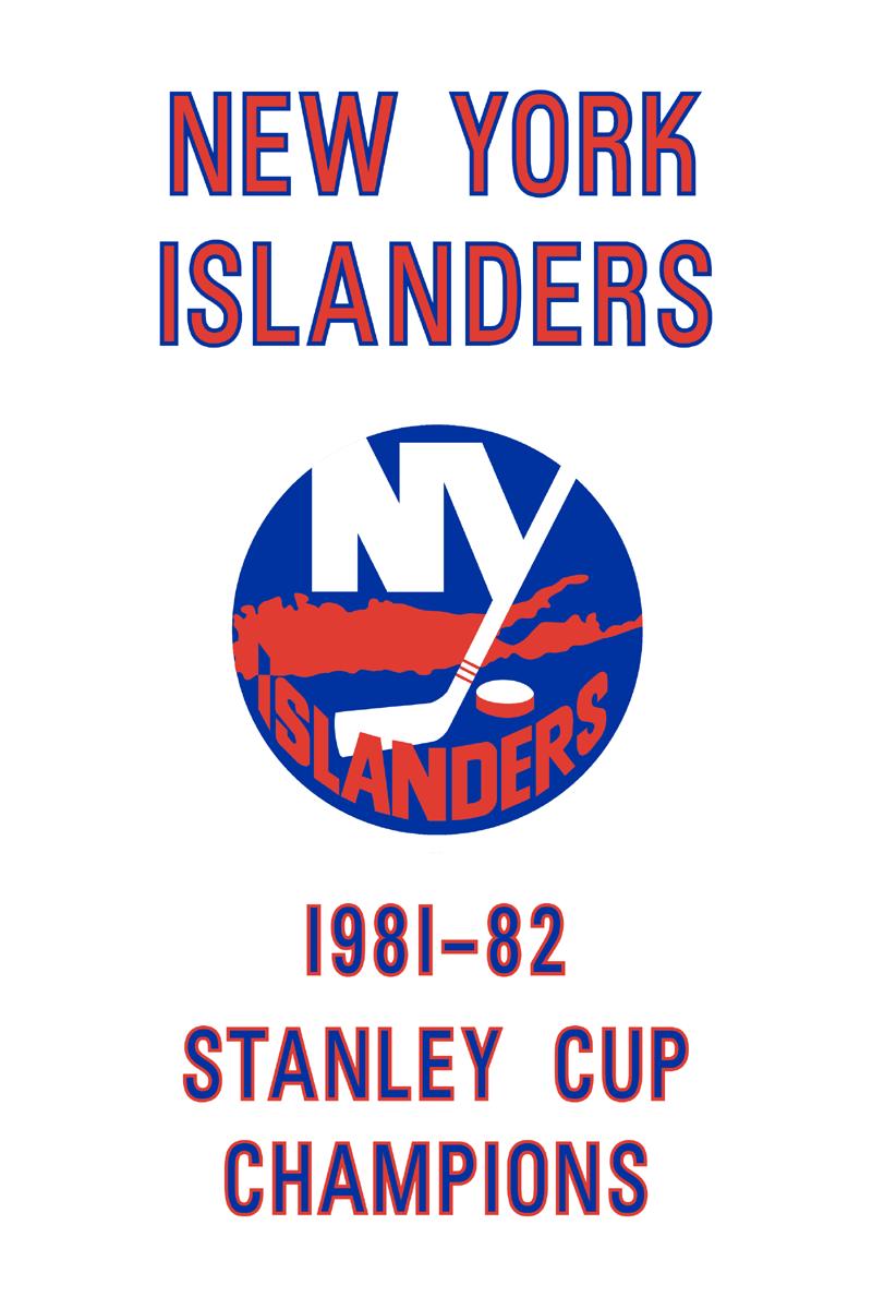 New York Islanders Championship Banner Championship Banner (1981/82) - New York Islanders 1982 Stanley Cup Champions Banner SportsLogos.Net