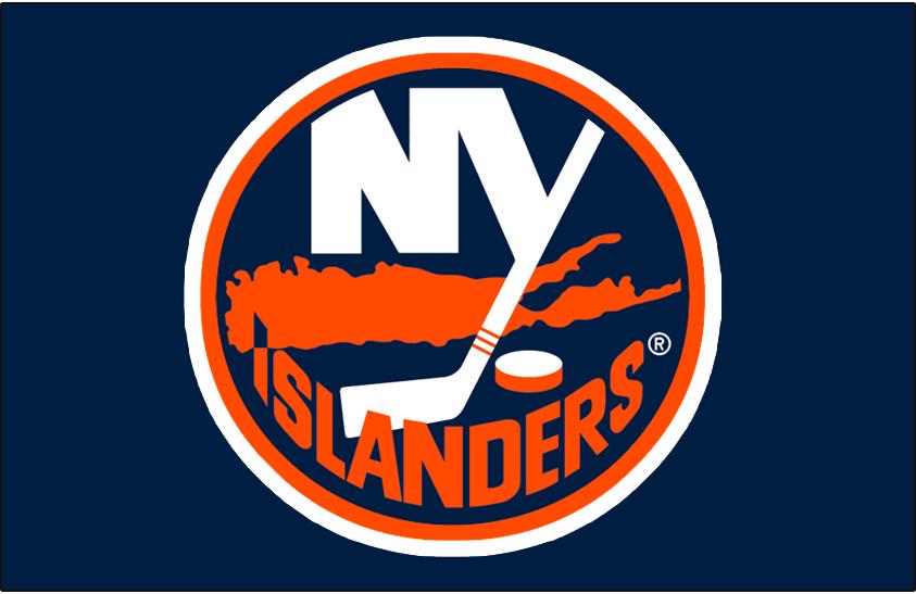 New York Islanders Logo Jersey Logo (1998/99-2001/02) - Worn on the New York Islanders road blue jersey from 1998-99 until 2001-02. Thickness of outlines adjusted for 2002-03 SportsLogos.Net