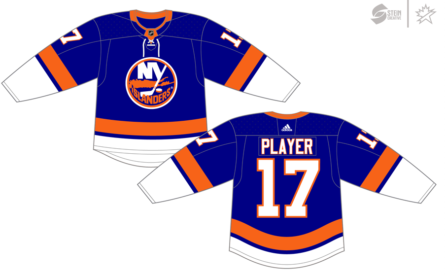 New York Islanders Uniform Dark Uniform (2017/18-Pres) - Adidas Jersey SportsLogos.Net