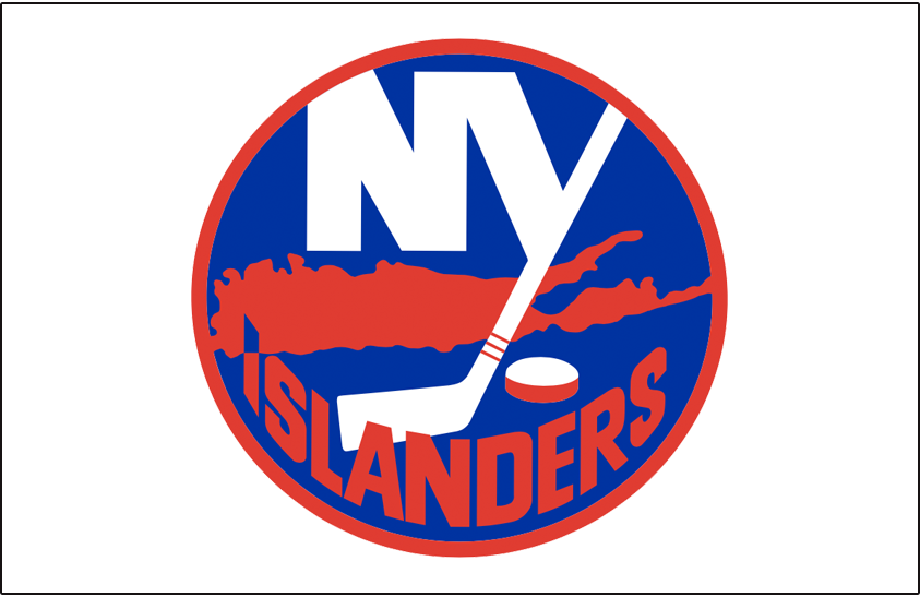 New York Islanders Logo Jersey Logo (1976/77) - Worn on New York Islanders home white jersey during the 1976-77 season only. Blue outline around logo was removed for this season. SportsLogos.Net