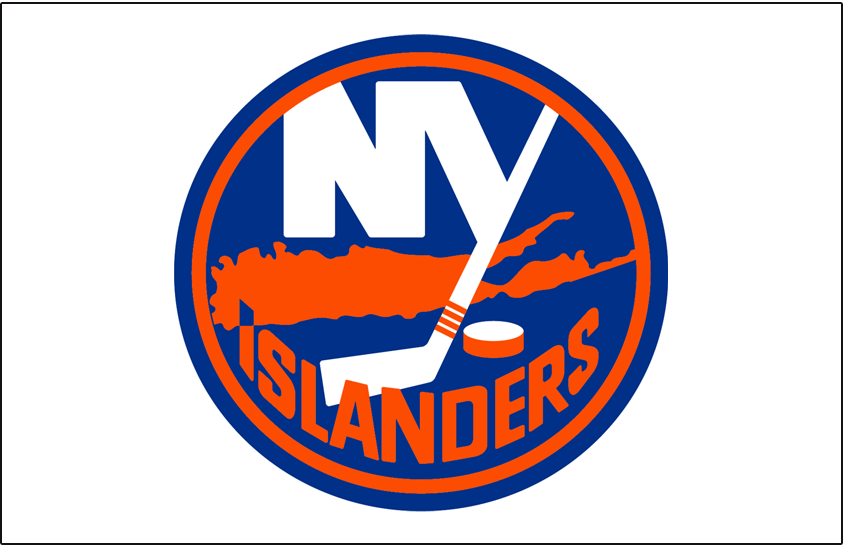 New York Islanders Logo Jersey Logo (2017/18-Pres) - Road jersey logo, blue outline added to previous road jersey logo SportsLogos.Net