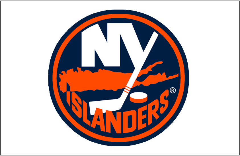 New York Islanders Logo Jersey Logo (1996/97-2001/02) - Worn on the New York Islanders home white jersey from 1997-98 until 2001-02. In 1996-97 this was worn on the Islanders white alternate jersey. Thickness of outlines adjusted for 2002-03 SportsLogos.Net