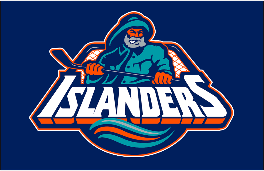 New York Islanders Logo Jersey Logo (1995/96-1996/97) - Worn on New York Islanders road blue jersey from 1995-96 until 1996-97 SportsLogos.Net