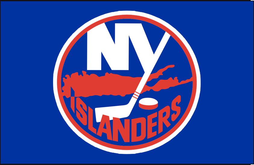 New York Islanders Logo Jersey Logo (1972/73-1983/84) - Worn on New York Islanders road blue jersey from 1972-73 until 1983-84, size of outlines around the logo changed in 1984 SportsLogos.Net