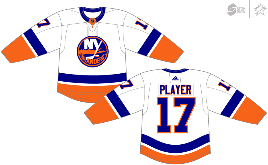 New York Islanders Uniform Light Uniform (2017/18-Pres) - Adidas Jersey SportsLogos.Net