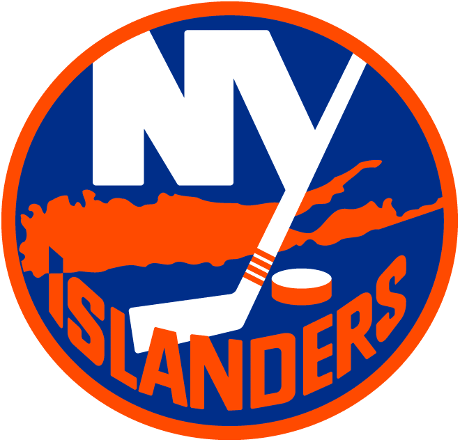 New York Islanders Logo Primary Logo (2010/11-2016/17) - Classic New York Islanders logo updated with four pieces of tape on hockey stick - each piece represents an Islanders Stanley Cup victory SportsLogos.Net