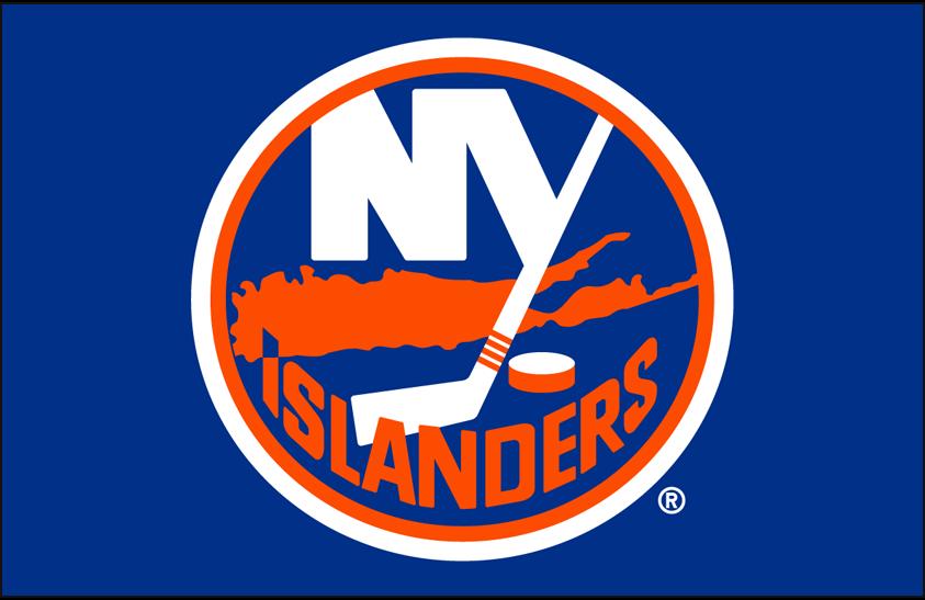 New York Islanders Logo Primary Dark Logo (2010/11-Pres) - New York Islanders primary logo on blue SportsLogos.Net