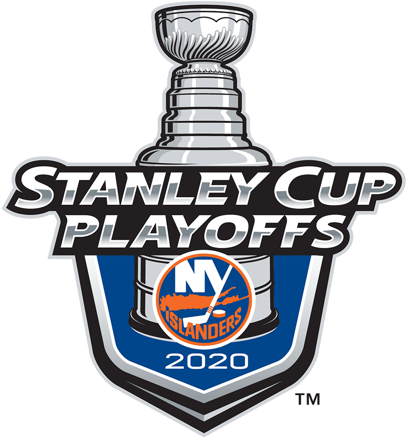 New York Islanders Logo Event Logo (2019/20) - The New York Islanders 2020 Stanley Cup Playoffs logo features the Isles circular NY logo on a blue shield with STANLEY CUP PLAYOFFS written above in silver and 2020 below in white. A depiction of the top-half of the Stanley Cup can be seen above the shield. This logo is used by the Islanders on various materials throughout their participating in the 2020 NHL Stanley Cup Playoffs. SportsLogos.Net