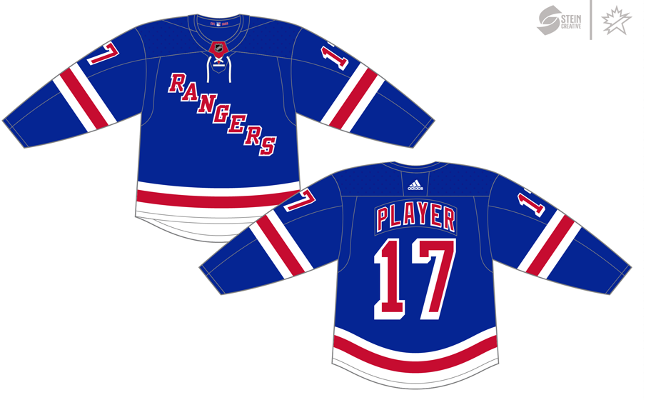 New York Rangers Uniform Dark Uniform (2017/18-Pres) - Adidas Jersey SportsLogos.Net