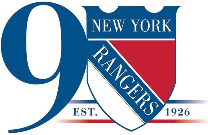 New York Rangers Logo Anniversary Logo (2016/17) -  SportsLogos.Net