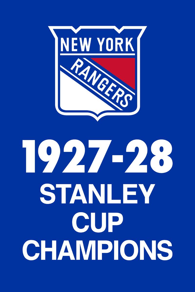 New York Rangers Championship Banner Championship Banner (1927/28) - New York Rangers 1928 Stanley Cup Champions Banner SportsLogos.Net