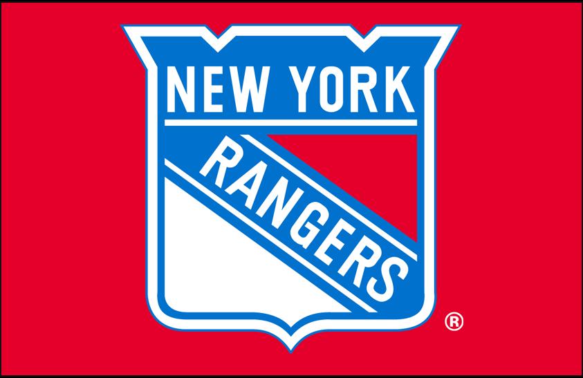 New York Rangers Logo Primary Dark Logo (1978/79-1998/99) - New York Rangers primary shield logo on red SportsLogos.Net