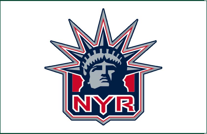 New York Rangers Logo Jersey Logo (1998/99) - Alternate Statue of Liberty white jersey logo, worn only during the 1998-99 season SportsLogos.Net