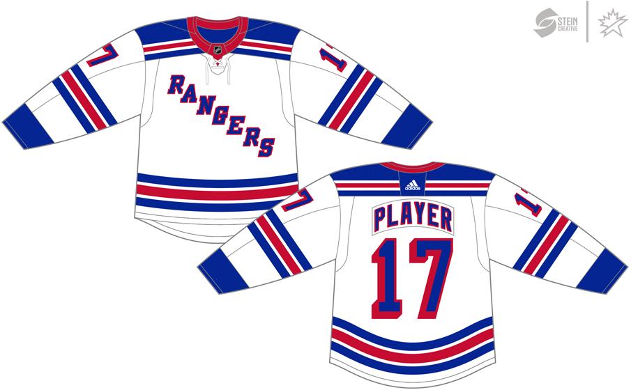 New York Rangers Uniform Light Uniform (2017/18-Pres) - Adidas Jersey SportsLogos.Net