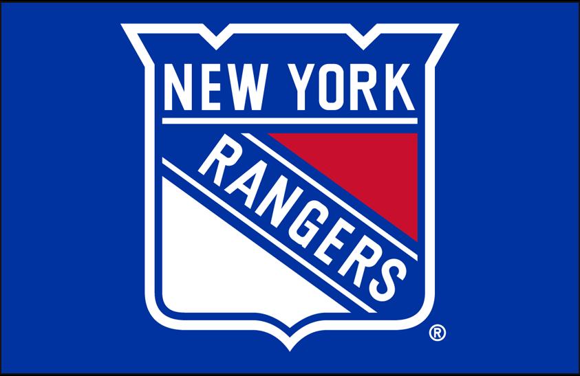 New York Rangers Logo Primary Dark Logo (1999/00-Pres) - New York Rangers primary shield logo on blue SportsLogos.Net