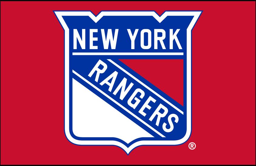 New York Rangers Logo Primary Dark Logo (1999/00-Pres) - New York Rangers primary shield logo on red SportsLogos.Net