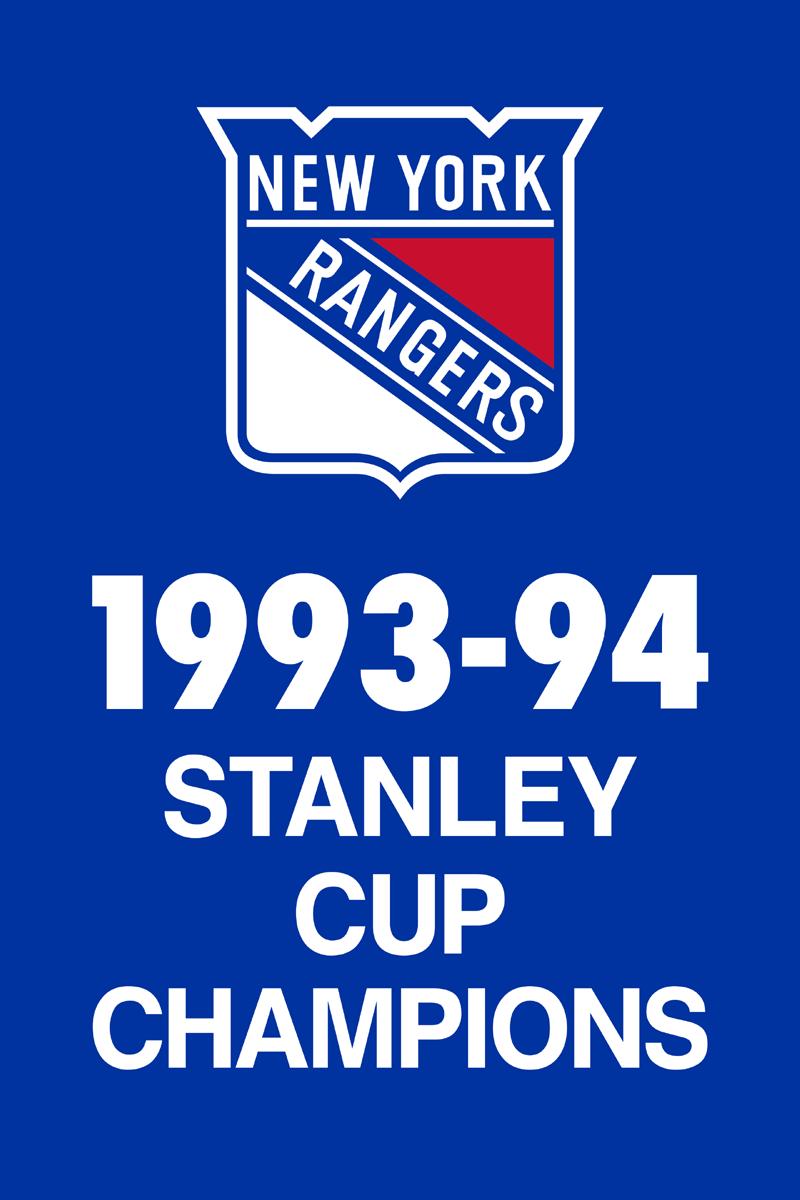 New York Rangers Championship Banner Championship Banner (1993/94) - New York Rangers 1994 Stanley Cup Champions Banner SportsLogos.Net