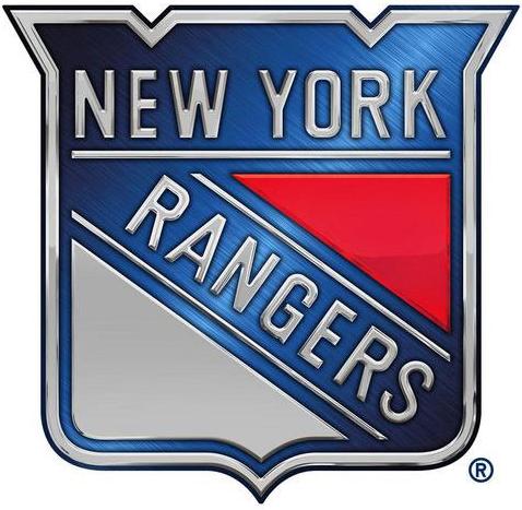 New York Rangers Logo Special Event Logo (2013/14) - Rangers Stadium Series chrome treated logo SportsLogos.Net