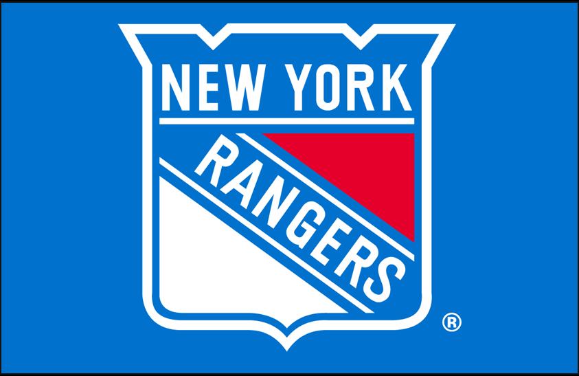 New York Rangers Logo Primary Dark Logo (1978/79-1998/99) - New York Rangers primary shield logo on blue SportsLogos.Net