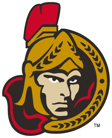 Ottawa Senators Logo Alternate Logo (2002/03-2006/07) - For the 2002-03 season, the Ottawa Senators updated their alternate logo slightly, the Centurion logo remained largely the same but the shading on its face was considerably simplified. SportsLogos.Net