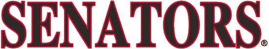 Ottawa Senators Logo Wordmark Logo (1992/93-2006/07) - Senators in black and red captials SportsLogos.Net