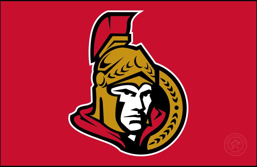 Ottawa Senators Logo Jersey Logo (2007/08-2019/20) - Forward facing Ottawa Senators logo on red, worn on Ottawa Senators home jersey starting in 2007-08 season SportsLogos.Net