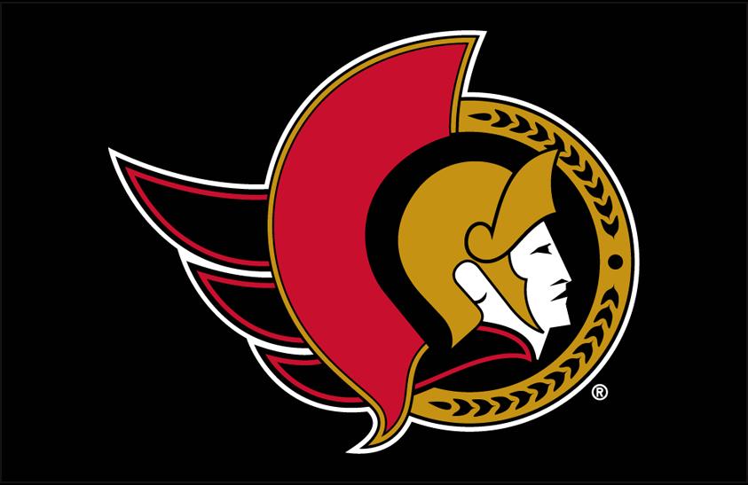 Ottawa Senators Logo Primary Dark Logo (1997/98-2006/07) - Ottawa Senators primary logo on black SportsLogos.Net