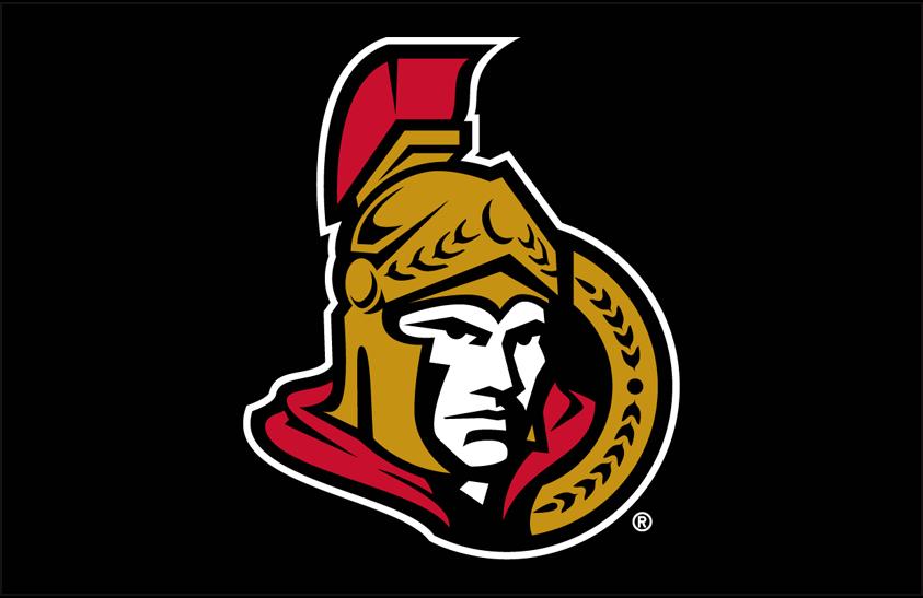 Ottawa Senators Logo Primary Dark Logo (2007/08-2019/20) - Ottawa Senators primary logo on black SportsLogos.Net