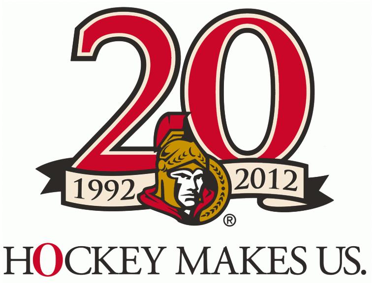 Ottawa Senators Logo Anniversary Logo (2011/12) - Ottawa Senators 20th anniversary logo SportsLogos.Net