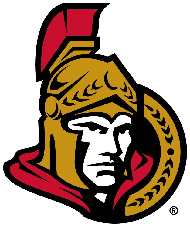 Ottawa Senators Logo Primary Logo (2007/08-2019/20) - A senator head facing forward with a cape flowing behind SportsLogos.Net