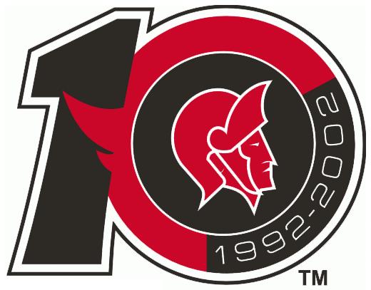 Ottawa Senators Logo Anniversary Logo (2001/02) -  SportsLogos.Net