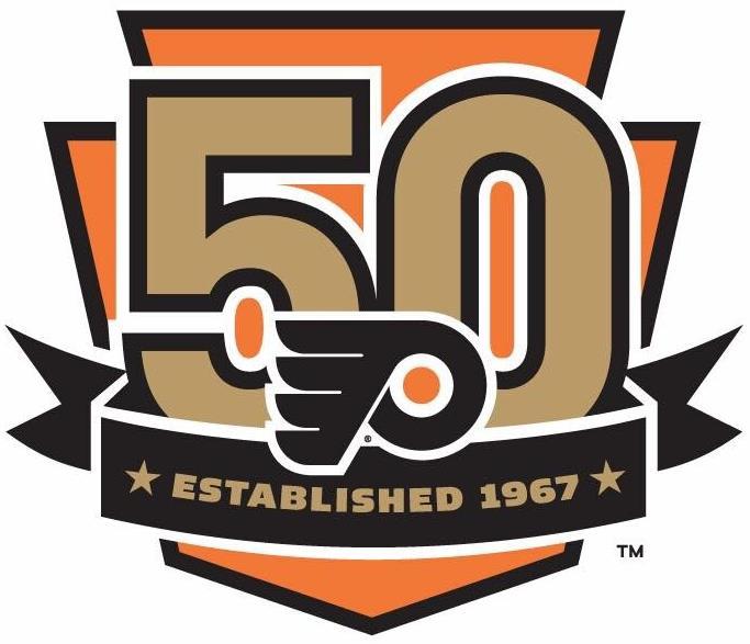 Philadelphia Flyers Anniversary Logo National Hockey League Nhl