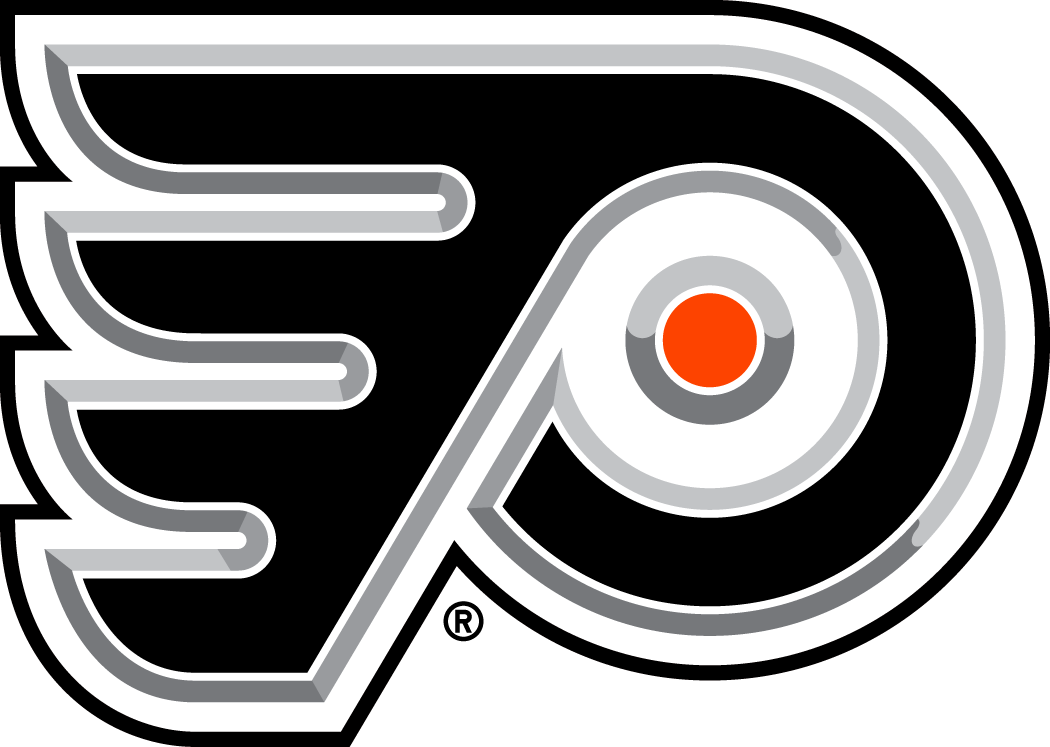 Philadelphia Flyers Logo Alternate Logo (2002/03-2006/07) - A 3-D version of the Flyers primary logo SportsLogos.Net