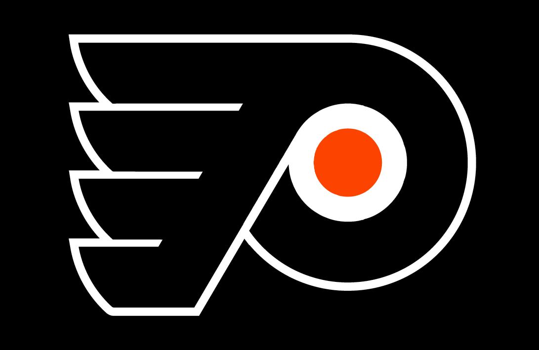 Philadelphia Flyers Logo Jersey Logo (2018/19-Pres) - Flyers primary logo on black, worn on Flyers alternate third uniform SportsLogos.Net