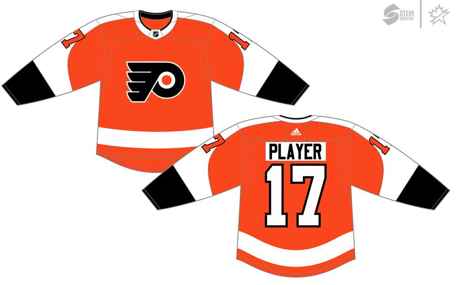 Philadelphia Flyers Uniform Dark Uniform (2017/18-Pres) - Adidas Jersey SportsLogos.Net