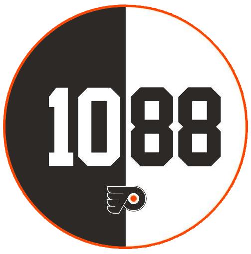 Philadelphia Flyers Logo Misc Logo (2014/15) - Eric Lindros and John LeClair Philadelphia Flyers Hall of Fame Induction 2014 logo SportsLogos.Net