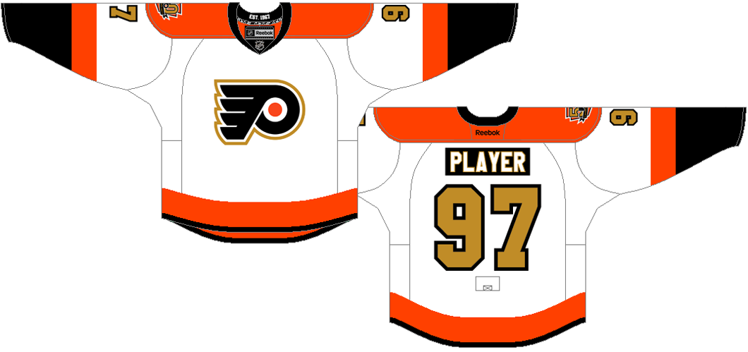 Philadelphia Flyers Uniform Special Event Uniform (2016/17) - Special jersey to commemorate the Flyers 5oth season in NHL. SportsLogos.Net