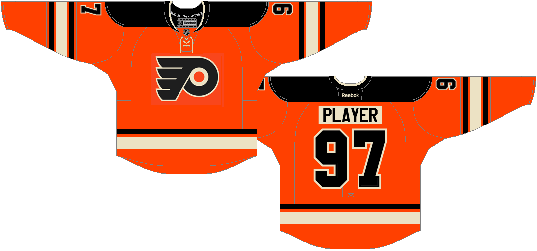 Philadelphia Flyers Uniform Alternate Uniform (2014/15-2016/17) - The Flyers 2012 Winter Classic jersey becomes the team's new alternate jersey. SportsLogos.Net