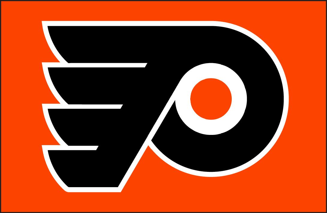 Philadelphia Flyers Logo Jersey Logo (1999/00-2000/01) - Philadelphia Flyers road jersey crest worn in 1999-00 to 2000-01.  Shade of orange adjusted in 2000. SportsLogos.Net