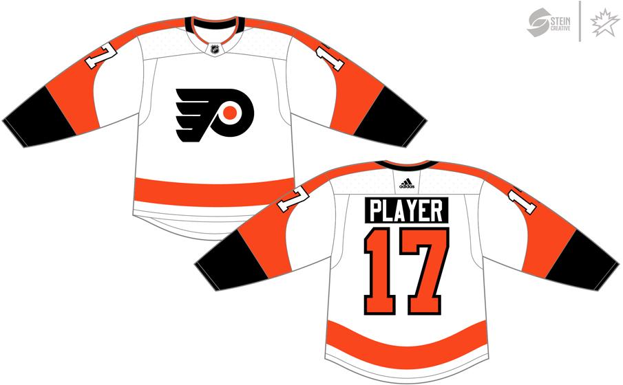 Philadelphia Flyers Uniform Light Uniform (2017/18-Pres) - Adidas Jersey SportsLogos.Net