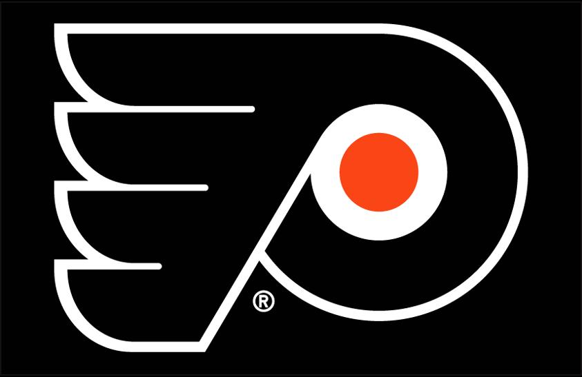 Philadelphia Flyers Logo Primary Dark Logo (1999/00-Pres) - Philadelphia Flyers primary logo on black SportsLogos.Net