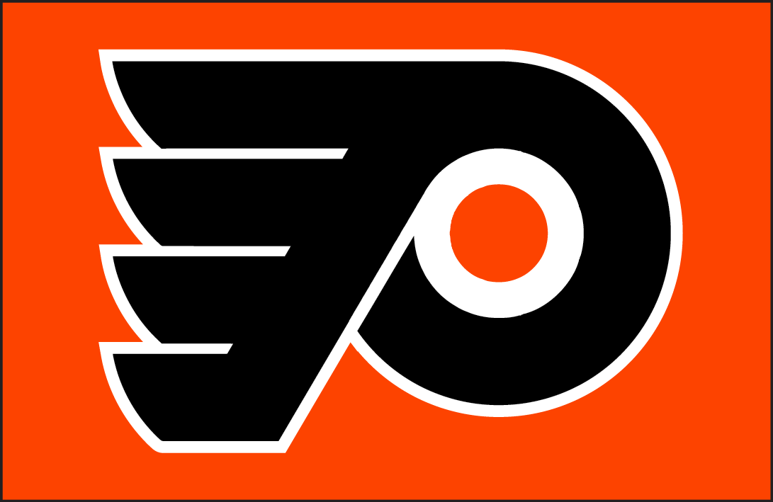 Philadelphia Flyers Logo Jersey Logo (2008/09-Pres) - Philadelphia Flyers jersey crest. Worn on the Philadelphia Flyers orange alternate jersey in 2008-09 and 2009-10, promoted to full-time home jersey for the 2010-11 season. SportsLogos.Net