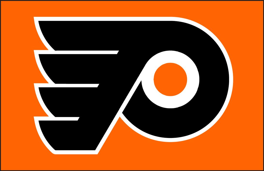 Philadelphia Flyers Logo Jersey Logo (1982/83-1998/99) - Philadelphia Flyers jersey crest Worn from 1982-83 until 1998-99.  SportsLogos.Net